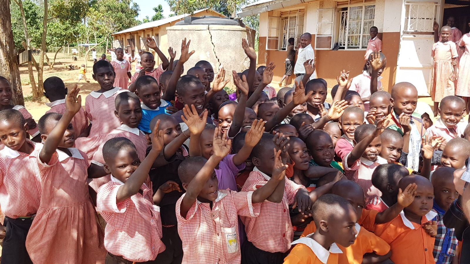 School kids in Lyantonde, Uganda