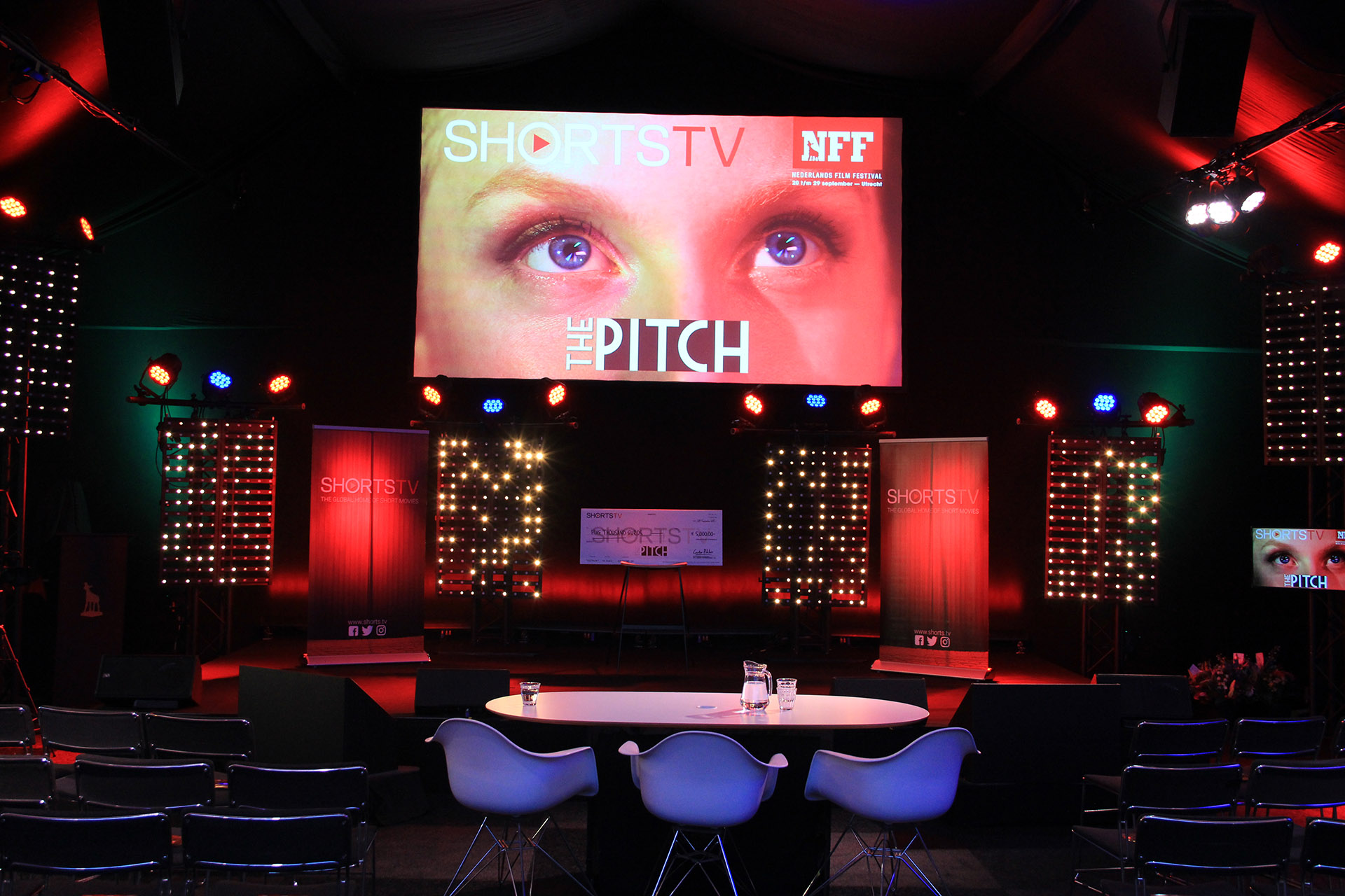 The Pitch stage at the Netherlands Film Festival